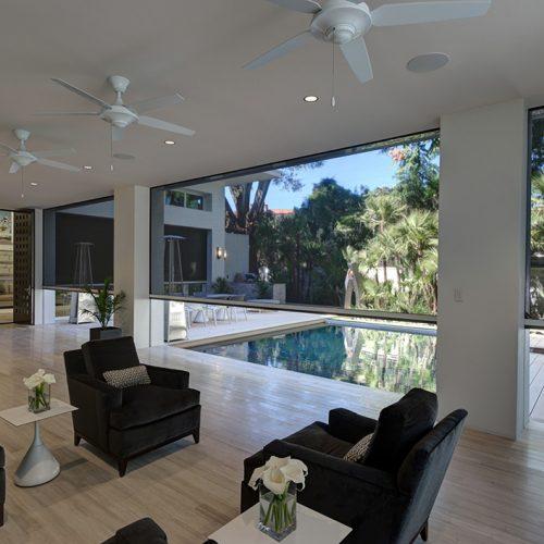 outdoor blinds open living space