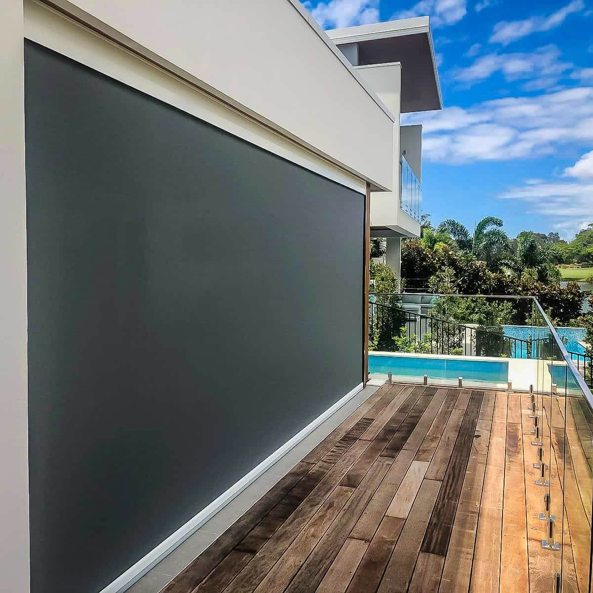 outdoor blinds gold coast on deck