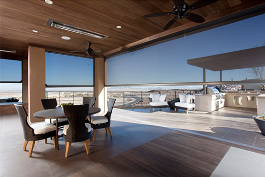 outdoor space with outdoor screens